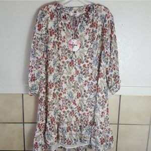 NWT Hayden floral flowy Tunic Dress Size Large